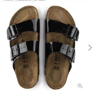 Patent leather Birkenstock Arizona sandals size 41